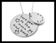 Moon and Back Necklace-Personalized