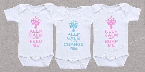 Funny Triplet Feed Change Burp Shirts Stuff 4 Multiples