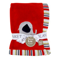 Elephant Parade Coral Fleece Recieving Blanket