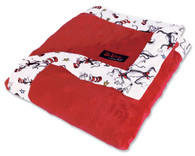 Dr Seuss Cat In The Hat Red Star Velour Blanket