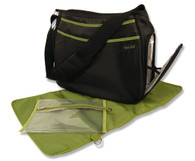 Black and Avocado Ultimate Diaper Bag