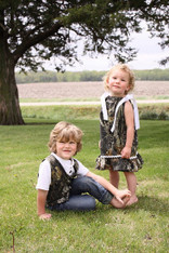 Matching MossyOak Camo Dress and Vest Set