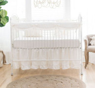 Linen Crib Bedding | Washed Linen in Ivory Crib Collection
