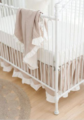 Linen Crib Bedding | Washed Linen in Natural Crib Collection