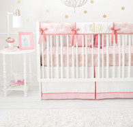 Pink and Gold Crib Rail Cover Set   Unicorn in Pink Collection