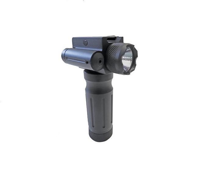 Tactical Fore End Grip w/750 Lumen Red/Green Laser