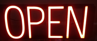Neon LED Open Window Sign