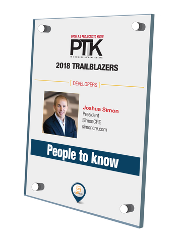 AZRE 2018 People & Projects To Know Plaque Style D:  Person or Project Stand-Off Wall Plaque