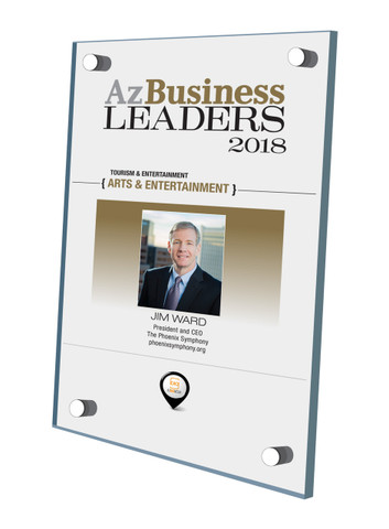 Az Business Leaders Plaque Style D: Stand-off wall plaque
