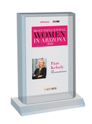 "AZ Business / AZRE magazine 2018 Most Influential Women Desktop Plaque - Style C (with photo) Size is 6"" X 9"""