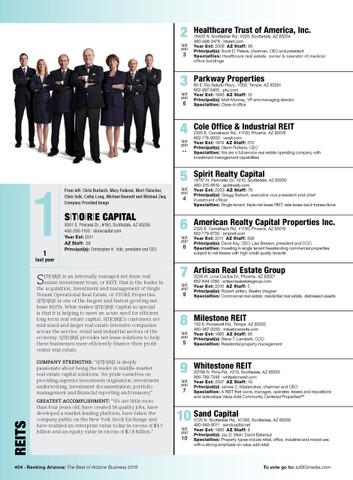 Ranking Arizona Reprint Style #R2: Modified Page
