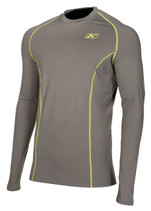 Mens  - Grey - Klim Aggressor 1.0 Base Layer Top Shirt