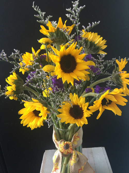 Sunflower Sunshine Ladybug Floral Gifts