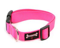 Smoochy Poochy Nylon Collar - Hot Pink