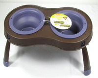 Dexas Collapsable Popware - Purple  Double Elevated Feeder