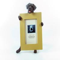 E&S Imports Small Dog Frame - Labrador Black