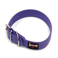 Smoochy Poochy Waterproof  Collar - Purple (Leather Alternative Material)