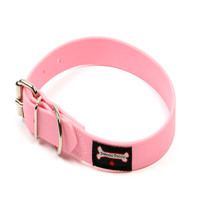 Smoochy Poochy Waterproof  Collar - Baby Pink (Leather Alternative Material)