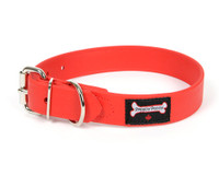 Smoochy Poochy Waterproof  Collar- Red  (Leather Alternative Material)