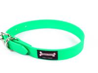 Smoochy Poochy Waterproof Collar - Green Apple  (Leather Alternative Material)