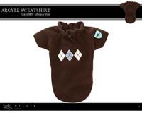Millie Signature Argyle Sweatshirt - Brown/Blue