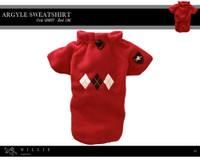 Millie Signature Argyle Sweatshirt - Red/Brown