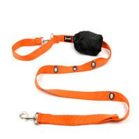 Smoochy Poochy  Nylon Hands-Free Leash - Orange