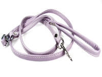 "Sit Up ""n"" Beg Deerskin Leash - Purple"