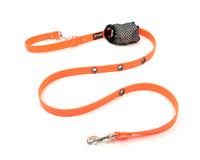 Smoochy Poochy Waterproof Hands-Free Leash - Orange  (Leather Alternative)