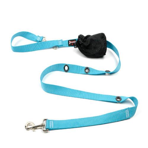 Smoochy Poochy Nylon Hands-Free Leash - Turquoise