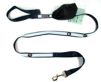 Smoochy Poochy 2Tone Hands-Free Leash - Black Baby Blue