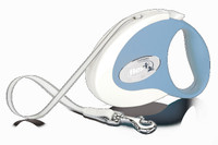 Flexi Collection Tape Retractable Leash - Blue/Whie