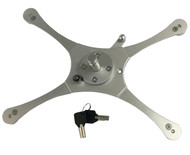 Lockable Quick Release comes with 2 keys. iPad can be removed easily or securely locked in place