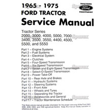 Ford 2000 3000 4000 5000 7000 & more Tractor Factory Shop Manual '65-75