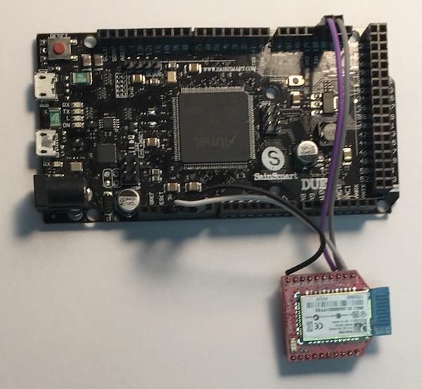 Arduino Due With Microchip RN41XV Bluetooth Module