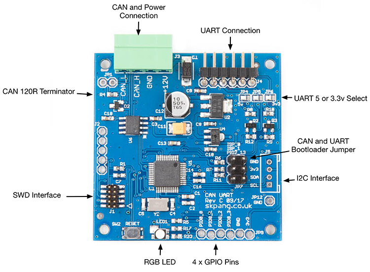 CAN Bus to UART Converter - Components