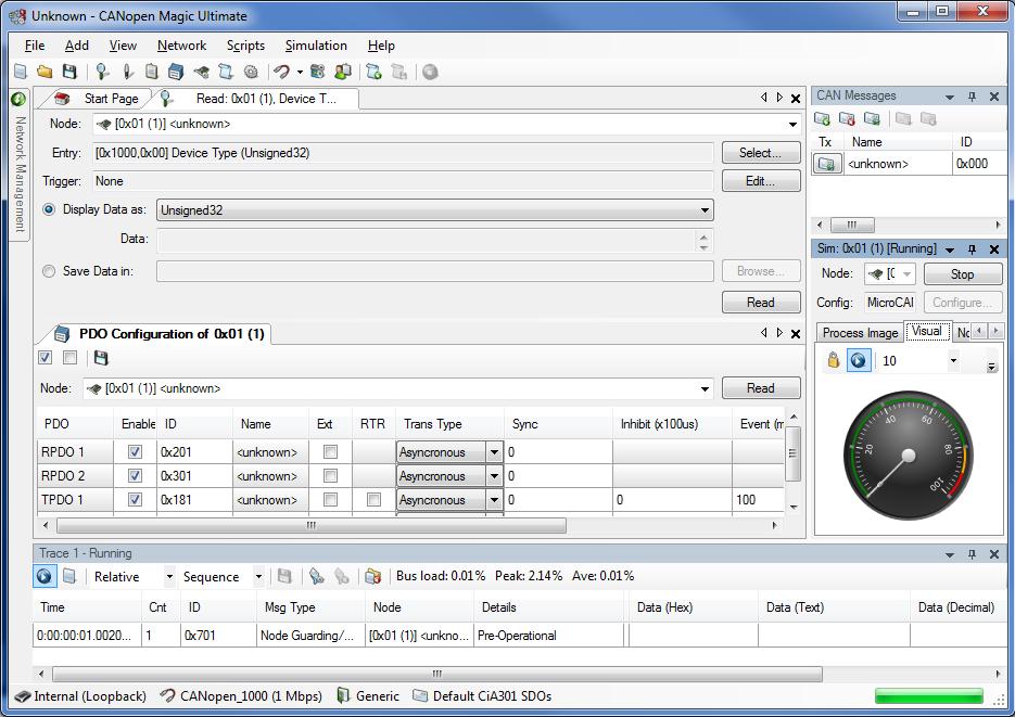 Embedded Systems Academy EmSA CANopen Magic - Professional CANopen monitor, analyzer, simulator