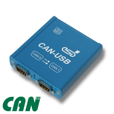 esd electronics CAN-USB/400-FD USB Module with 2 CAN FD Interfaces