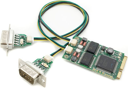 Laike LCminiPCIe-431 - PCIe Board With One Or Two Galvanically Isolated CAN Bus Ports