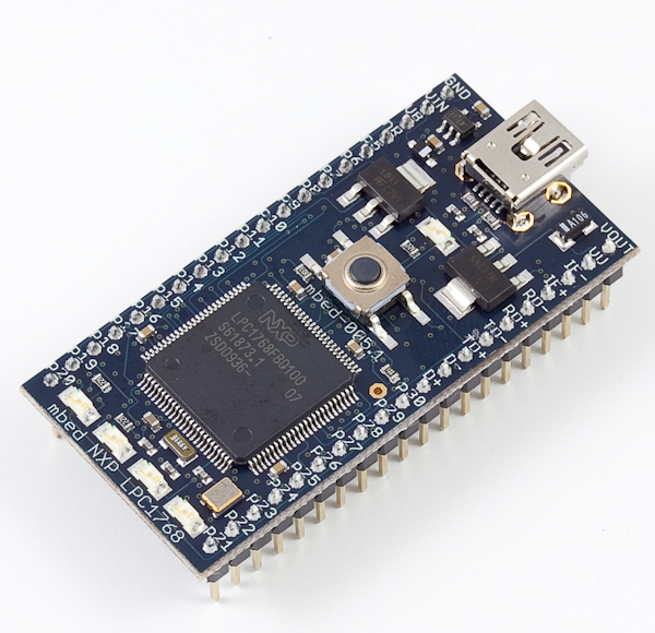mbed LPC1768 Rapid Prototyping for general microcontroller applications, Ethernet, USB and 32-bit ARM® Cortex™-M3 based designs