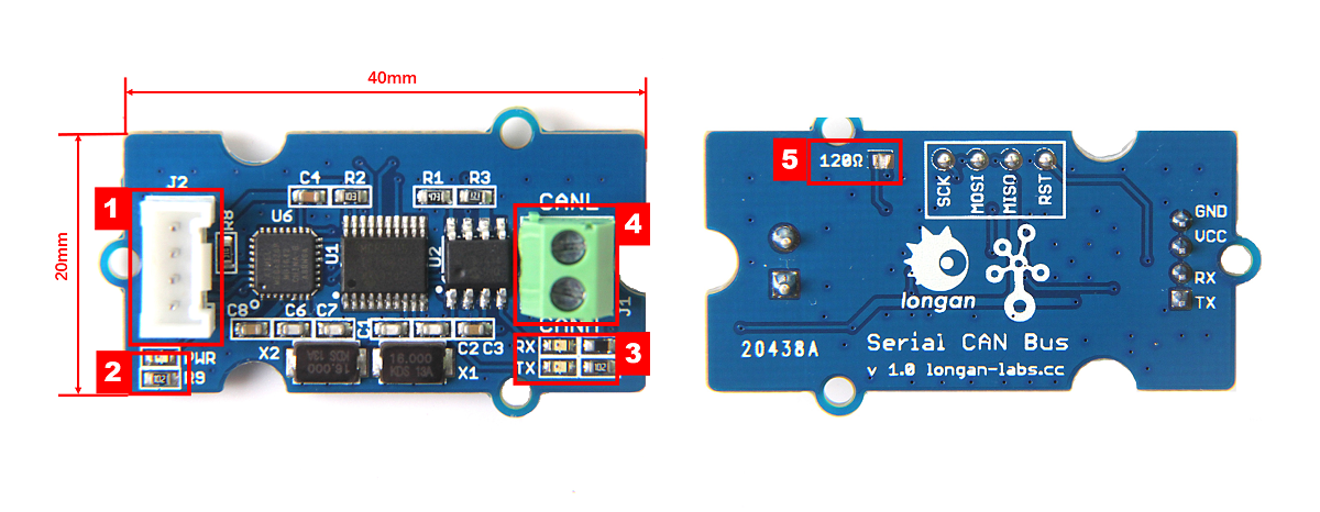 Hardware Overview of Serial CAN Bus Module