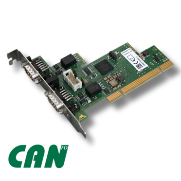 esd electronics CAN-PCI/402-2-FD - 2 Channel PCI-CAN FD Interface - PCI Board with Altera® FPGA for 2x CAN FD