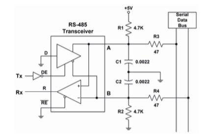 SAE J1708 RS485 Transceiver Diagram