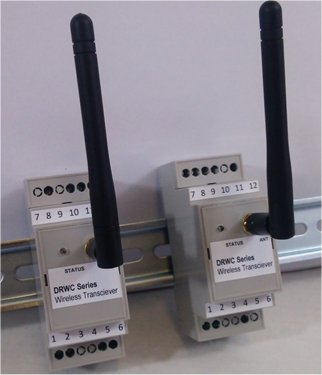Din Rail Wireless Remote Control System With 2 Way Switch