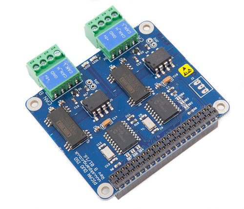 PiCAN2 Duo Isolated CAN-Bus Board for Raspberry Pi 2/3