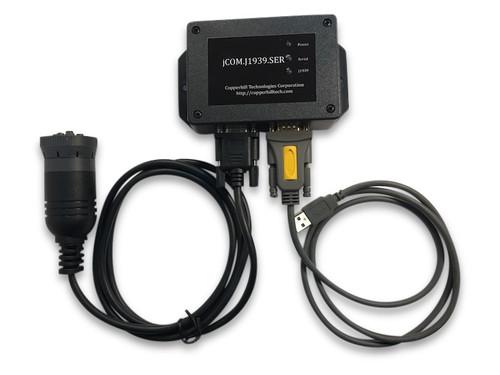 jCOM.J1939.SER - RS232 USB Gateway to SAE J1939 With Cable