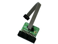 Plug-in adapter for ARM-USB-OCD, ARM-USB-OCD-H, ARM-USB-TINY, ARM-USB-TINY-H which allows boards with small 10-pin 0.05 inch step connector to be programmed/debugged.