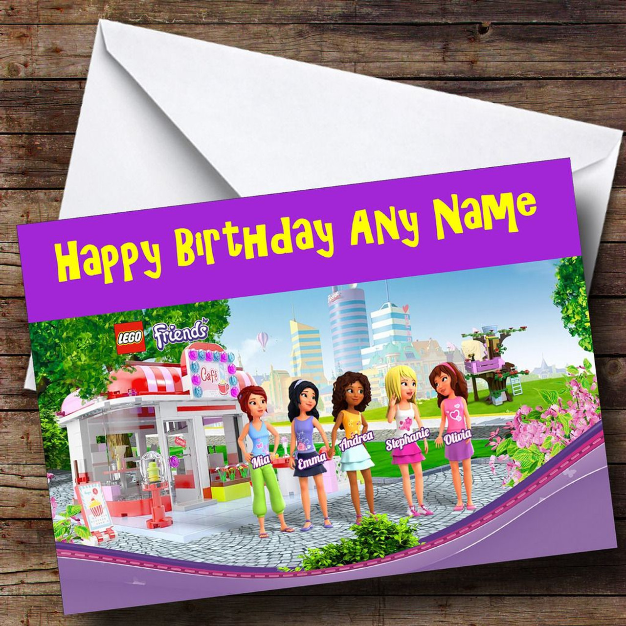 Lego Friends Personalised Birthday Card