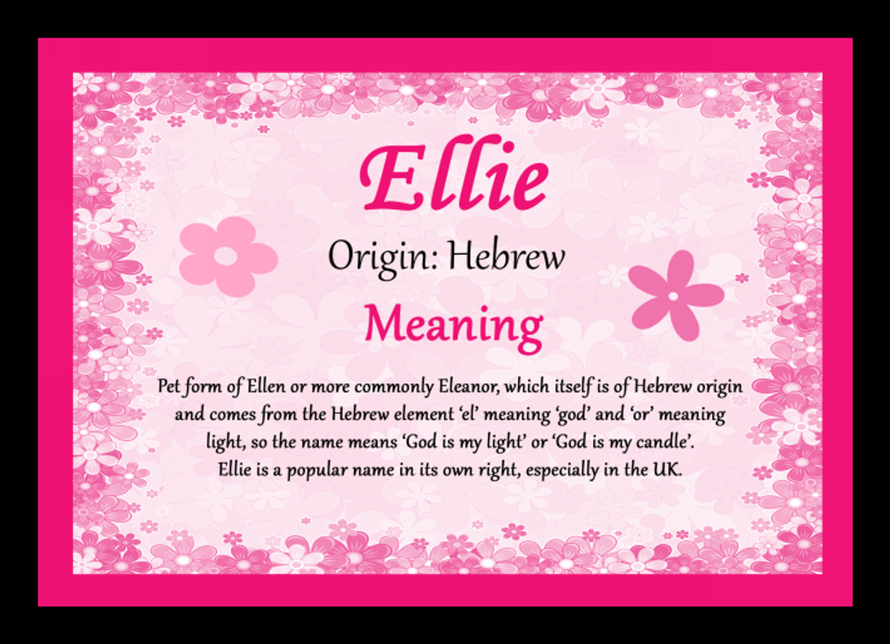 ellie personalised name meaning mousemat  the card zoo