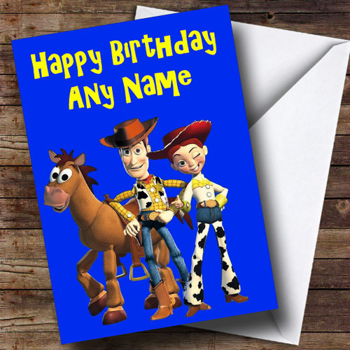 Toy Story Woody Jessie Personalised Birthday Card The